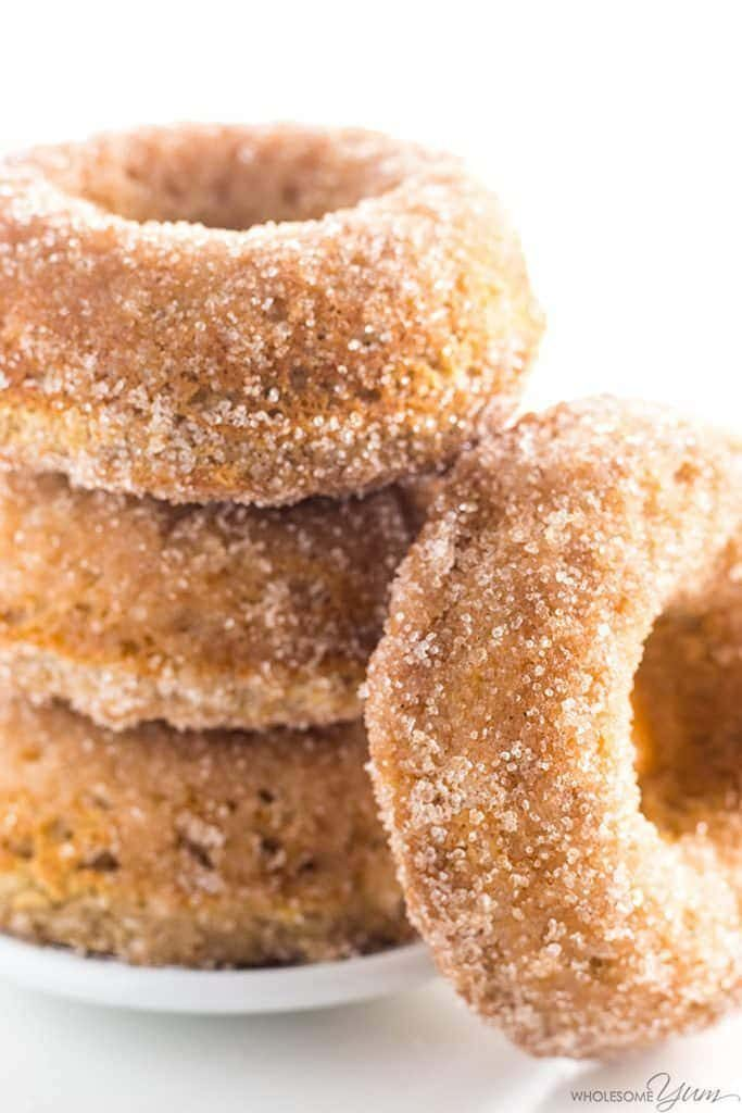 Almond Flour Keto Donuts via Wholesome Yum