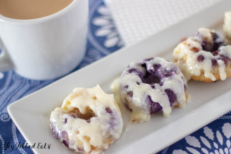 Lemon Blueberry Donuts with Cream Cheese Glaze via Joy Filled Eats