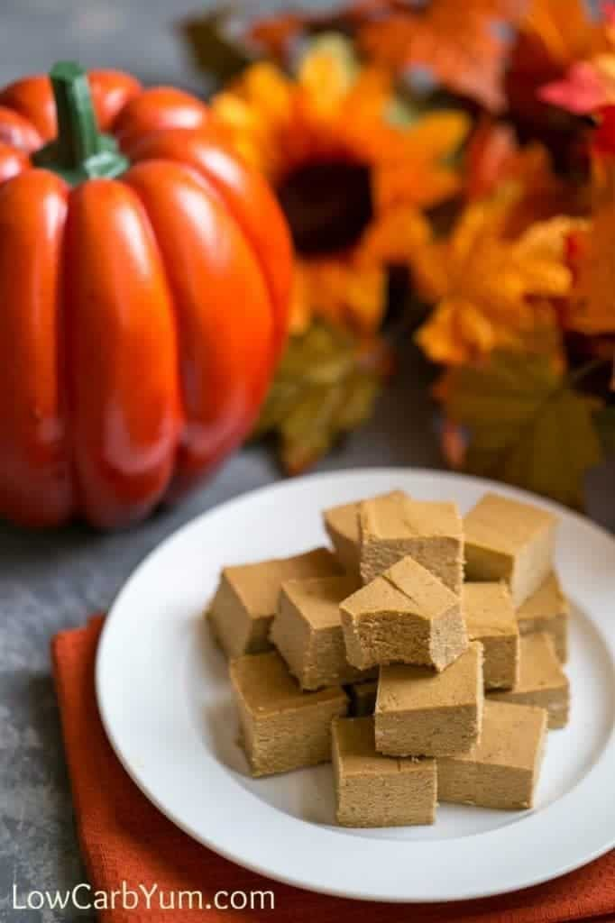 Easy pumpkin fudge via Low Carb Yum