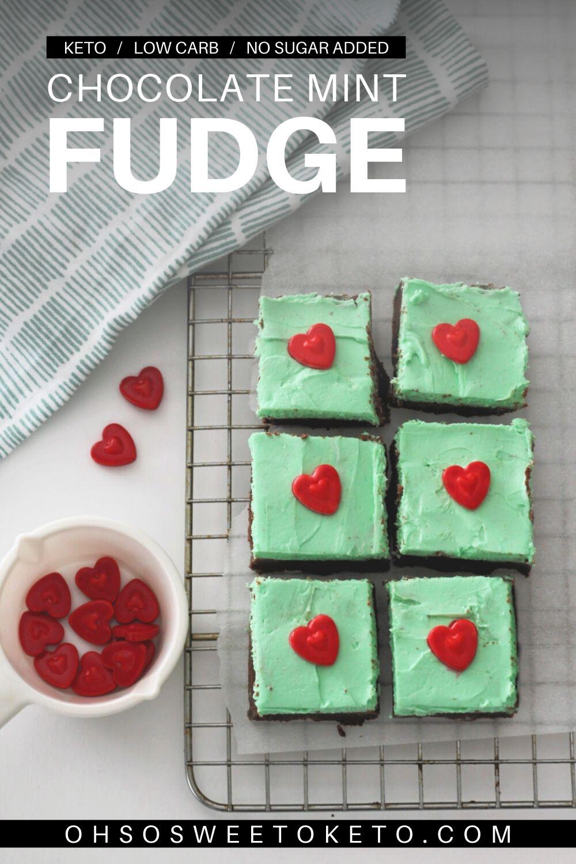 Keto Chocolate Mint Fudge - Low Carb - No Sugar Added